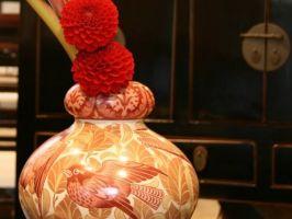Royal Doulton鳥文花器
