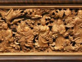 木彫八仙渡海図