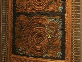 苗族 神獣文手刺繍古布