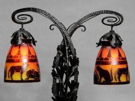 SCHNEIDER/ CHARDER Art Deco Lamp