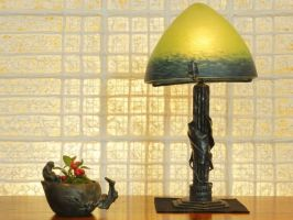 Daum Art Deco Lamp #2